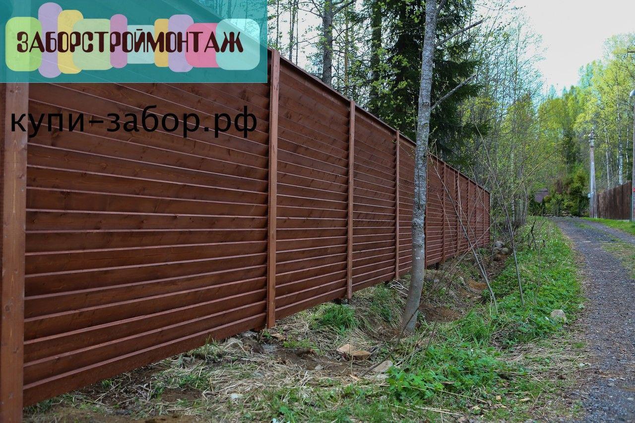 Забор жалюзи из дерева своими руками 90